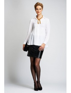 ST. MORITZ Faux Leather Mini Skirt