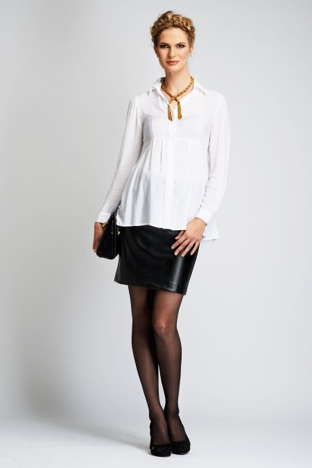 ST. MORITZ Faux Leather Mini Skirt Outfit