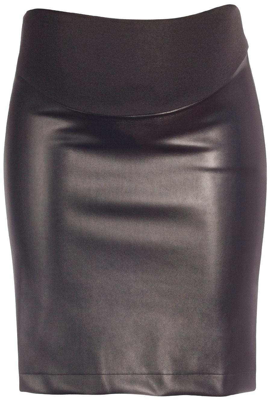 ST. MORITZ Faux Leather Mini Skirt