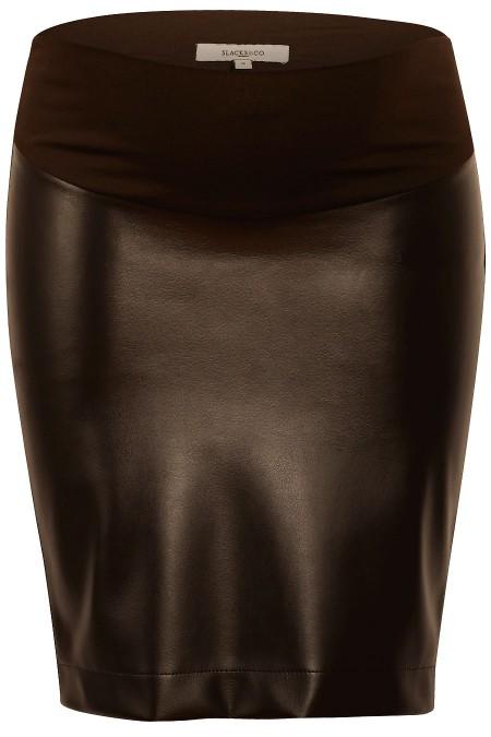 ST. MORITZ Faux Leather Mini Skirt Combination 7124