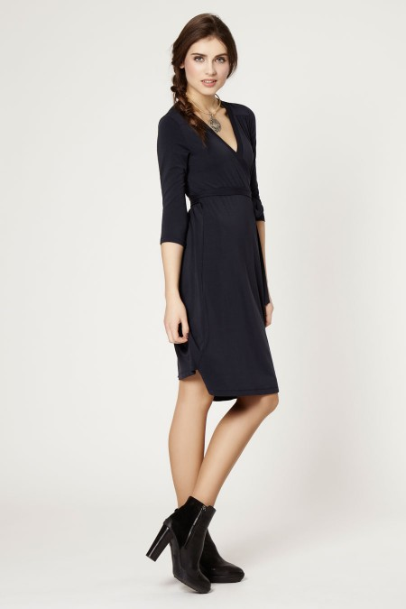 ZOE Plain Wrap Dress Outfit