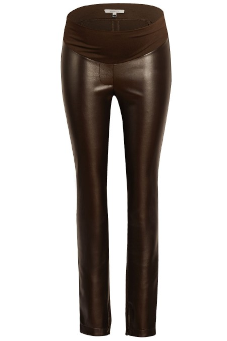 DALLAS Faux Leather Treggings Combination 5478