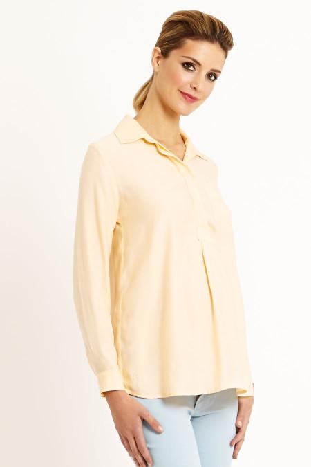Munich Matt Silk Shirt Blouse Outfit