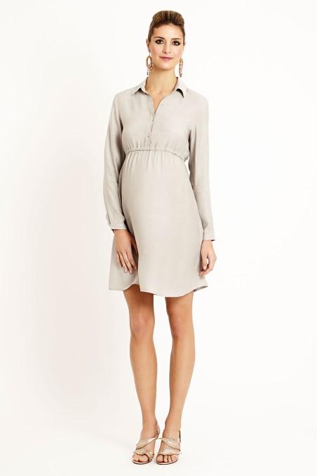 BALI Matt Silk Shirt Dress Outfit