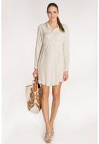 BALI Matt Silk Shirt Dress