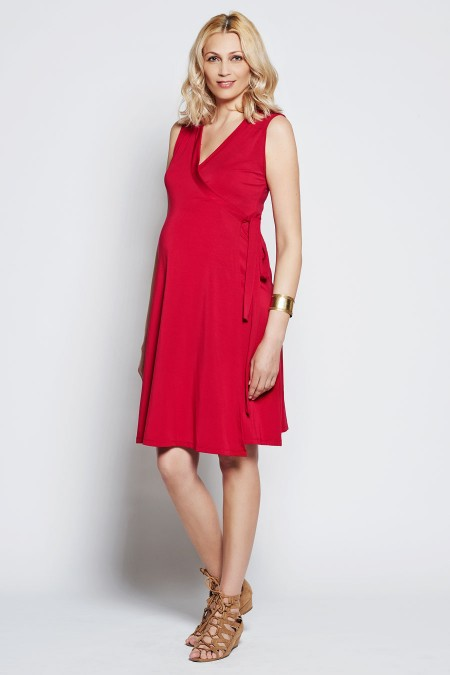 CHLOE Plain Wrap Dress Outfit