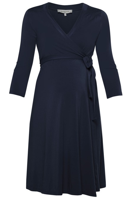 ZOE Plain Wrap Dress Combination 7022