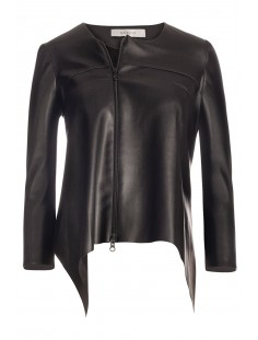 DENVER Cropped Faux Leather Jacket