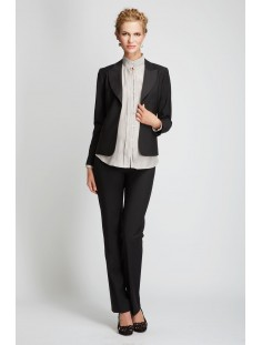 IBIZA Two Tone Collar Wool Jacket