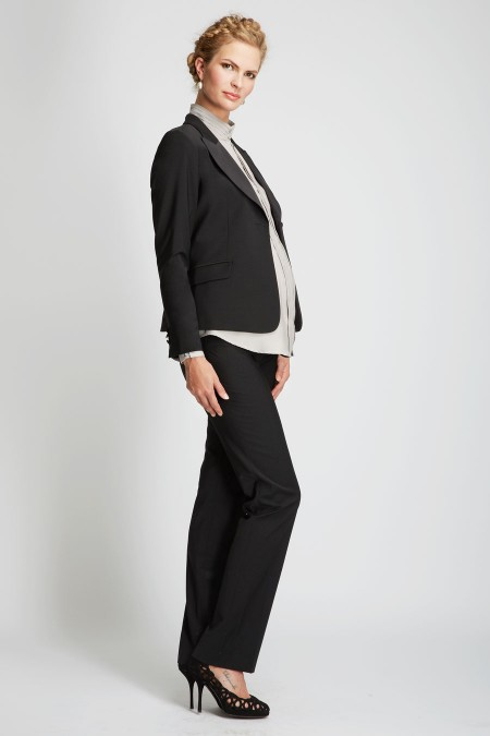 IBIZA Two Tone Collar Wool Jacket Outfit