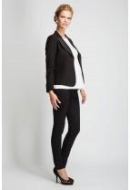IBIZA Two Tone Collar Crepe Jacket