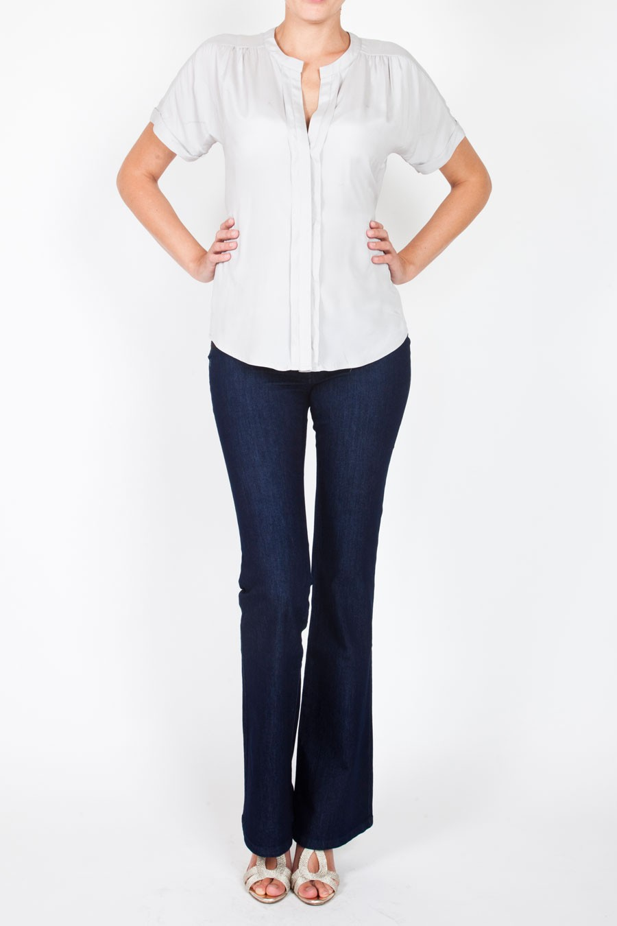 MAYFAIR Bootcut Jeans Under with Button Pockets